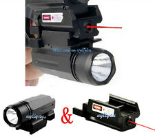 Flashlight CREE LED &Red Laser Sight SetFor 19 20 21 22 23 30 31 Pistol GLOCK17