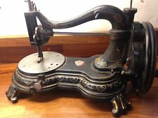 Antique New Engand Paw foot Sewing Machine Victorian 1860s 1870s hand crank