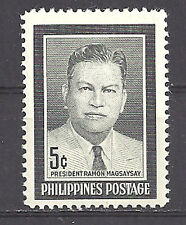 PHILIPPINES ,1957 , MAGSAYSAY , STAMP ,  PERF. ,  MNH