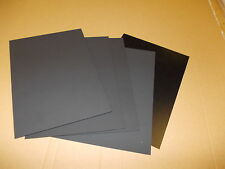 6 PIECES BLACK KYDEX SHEET  297 X 210MM A4  ASSORTED THICKNESS