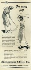 1952 Abercrombie & Fitch Women Fashion Golfing Clothes PRINT AD