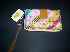 NEW FOSSIL Sydney Colorful Multi-Print Tech Friendly Wristlet Wallet  $55!