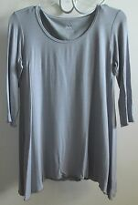 MIRACLEBODY by Miraclesuit Trapeze  Body Shaping Pullover Top Gray S