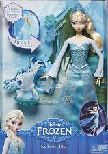 2014 DISNEY FROZEN ICE POWER ELSA DOLL!!