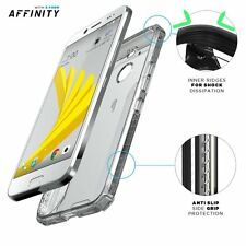 Shockproof  Dual material Protective Bumper Case for HTC Bolt (2016) Clear