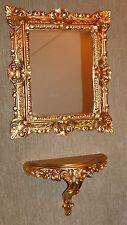 Specchio muro + Console SET BAROCCO oro antico 44x38 cm bagno 1