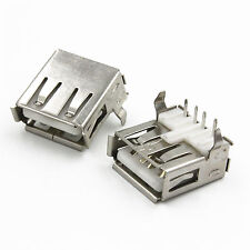 5pcs USB Type A Female PCB Mount Socket Connector Right Angle 4 Pin 90 Degree