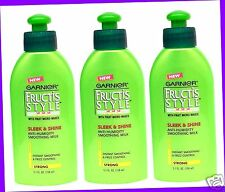 3 Garnier Fructis SLEEK & SHINE Anti-Humidity Smoothing Milk STRONG HOLD noFrizz