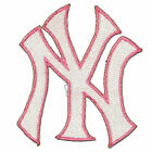 "New York Yankees Baseball MLB Iron On Patch Embroidered Team Logo 3"" inch PINK"