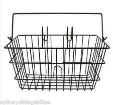 FRONT WIRE BIKE BASKET BLACK LIFT OFF Vintage Ladies RETRO BICYCLES MESH ☆