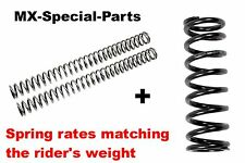 KTM 85 SX SX85 # FORK SPRINGS + SHOCK SPRING with matching SPRING RATE -  select
