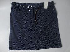 NEU Damen Rock Twillrock + geflochtener Gürtel Gr.50 blau/gepunktet Shirt Bluse