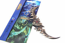 WOW illidan Stormrage Warglaive of Azzinoth Blade Metal Keychain Toy Gift New