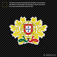 Portuguese Coat of Arms Sticker Decal Self Adhesive Vinyl Portugal flag PRT PT