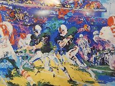 Leroy Neiman Rushing Back Post Card Book Print Matted Rare! Fast Free Shipping!