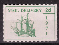 1971 STRIKE MAIL PUBLIC MAIL SHIP 2d GREEN ON WHITE PM 2 MNH