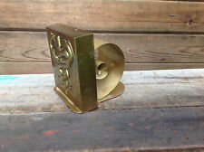 Vintage Brass Caduceus PM Scroll Bookend Philadelphia Mfg Co