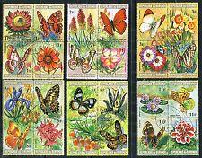 202 - Burundi - Butterflies - Flowers - Complete Used Set of 48