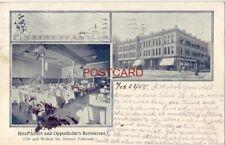pre-1907 HOTEL ALBERT AND OPPENHEIM'S RESTAURANT DENVER, COLORADO 1908