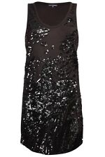 FRENCH CONNECTION Moondust Lentejuelas Vestido De Tirantes Uk 8 RRP £ 65 Nuevo con etiquetas