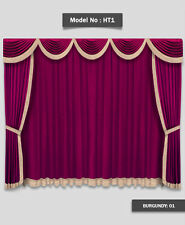 12'W x 8'H Saaria Home Theater Event Stage Movie Hall Valance Curtains  HT-1