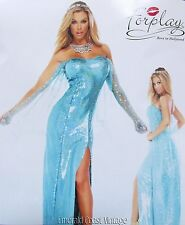 New FORPLAY Sexy Ice Princess Elsa Costume Star Sequin Dress L/XL HALLOWEEN!