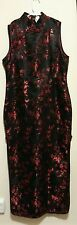 Chinese dress long black and red Asian size XXL