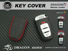 Leather Key fob Holder Case Chain Cover fit For Audi A1 A3 A6 A7 A8 Q3 Q5 A2A023