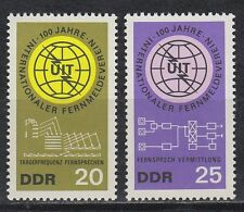 DDR EAST GERMANY 1965 ** mi.1113/14 destélécommunications uit telecommunications