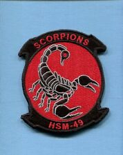 HSM-49 SCORPIONS US Navy Sikorsky Helicopter Squadron Jacket Patch