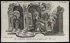 santino incisione1700 S.CECILIA V.M.  klauber