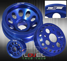 FIT NISSAN/INFINITI 350Z G35 ENGINE PERFORMANCE ALUMINUM PULLEY WHEEL UNIT BLUE