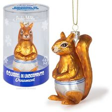 Accoutrements Archie Squirrel In Underpants Ornament Tree Christmas Funny Decor
