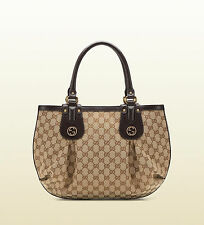 AUTH NEW GUCCI BEIGE SCARLETT STUD INTERLOCKING G HOBO BAG/HANDBAG/PURSE/TOTE