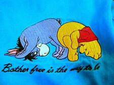 Disney Womens Blue Shorts Plus Size 24W Winnie the Pooh Eeyore Patch Pockets