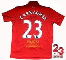 NEW LIVERPOOL HONOURS SHIRT SIGNED BY JAMIE CARRAGHER THIS SEASON'S SHIRT