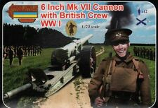 Strelets 1/72 6 Inch Mk VII Cannon with British Crew WWI # A001