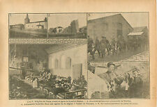 Eglise de Vaux Soldiers Prisoners Deutsches Heer Verdun WWI 1916 ILLUSTRATION