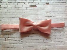 Vintage pale baby pink bow tie Wedding prom snooker magician formal occasion