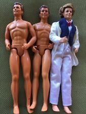 3 1990's Ken Barbie Dolls With White Tux