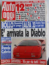Auto OGGI n°165 1990 Lamborghini Diablo - Alfa 33 contro Tipo e Golf 16V [Q201]