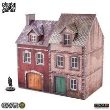 Plastcraft - 28mm Colored Semi-Detached Building EWAR58 Wargame Scenery