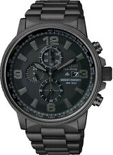 New Citizen CA0295-58E Eco-Drive Men's Nighthawk Chronograph Black PVD Watch