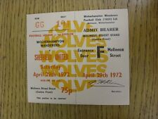 29/04/1972 Ticket: Wolverhampton Wanderers v Sheffield United  . Thanks for view
