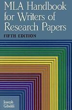 MLA Handbook for Writers of Research Papers, Fifth Edition, Joseph Gibaldi, Good