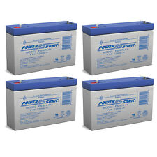 Power-Sonic 4 Pack - 6V 7AH SLA Battery Replaces 12-561 pc670 ps-670