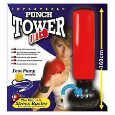 New Inflatable Stress Boxing Punch Tower Free Standing Box Fun Workout Bag  Pump