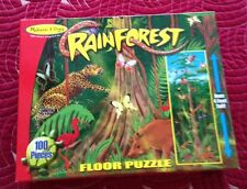"XL JIGSAW PUZZLE 100 BIG PIECES ""RAIN FOREST"" OVER 4 FT. TALL AGES 6+ EASY CLEAN"