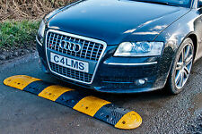 2.36m Speed Bump Ramp Hump Kit Traffic Calming Heavy Duty inc Cats Eye & End Cap