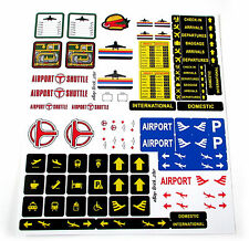 STICKERS CUSTOM for LEGO 6399 3182 7734 CUTOM AIRPORT BUILDS, Models, Toys, Etc